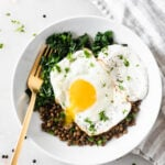 kale lentil breakfast bowl