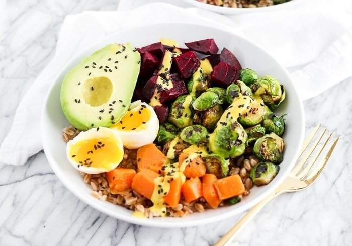 Vegetarian Rainbow Buddha Bowl