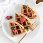 Whole Grain Sourdough Waffles