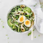 spring green quinoa bowl