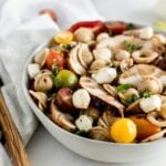Caprese chicken pasta salad.