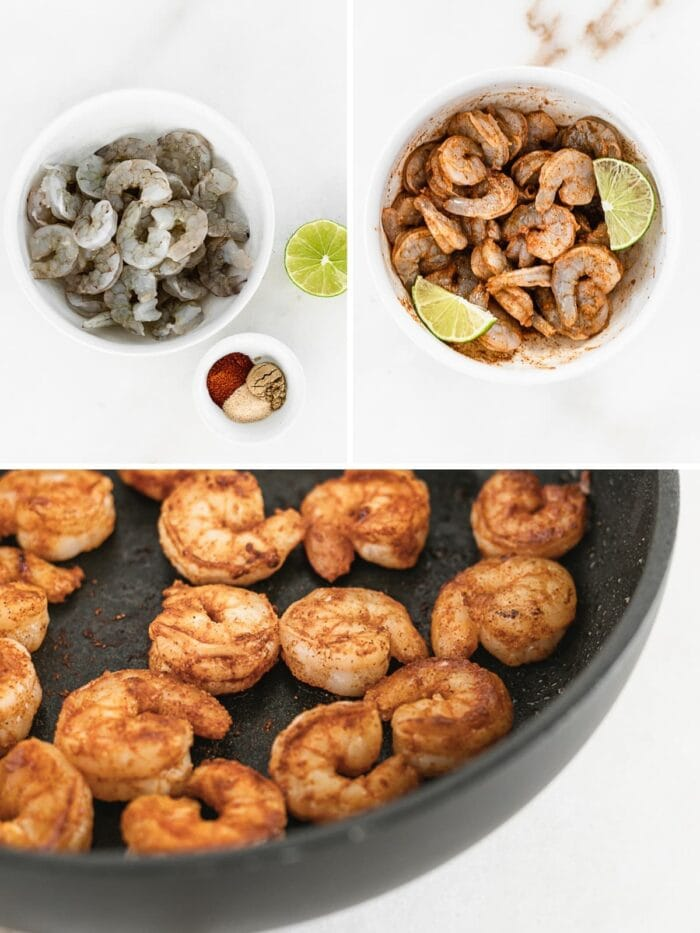Steps on how to make easy chipotle shrimp.