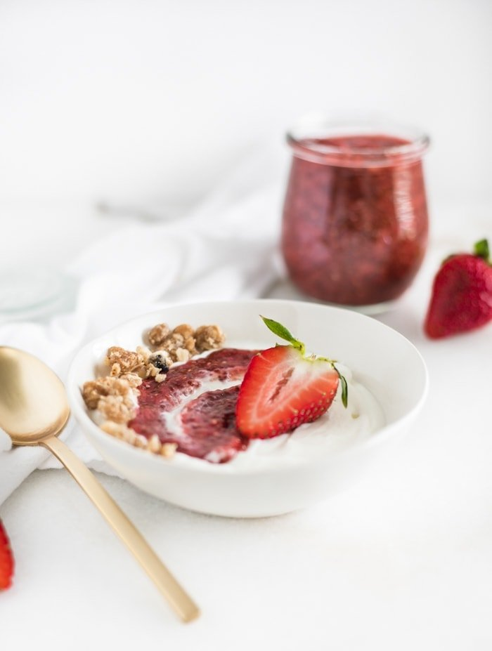 Strawberry Rhubarb Chia Jam
