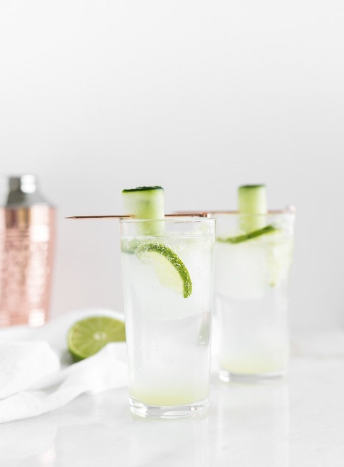 white linen cocktail