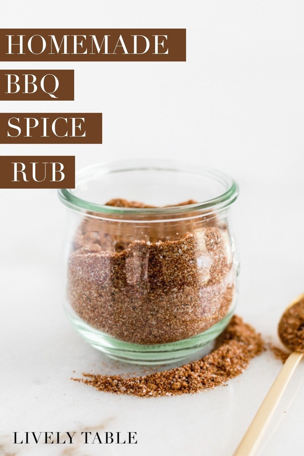 A simple and delicious, sweet and smoky, homemade BBQ spice rub that can be used on anything from grilled chicken to smoked brisket or ribs! Add it to a grilling gift basket for the perfect Father's Day gift. #BBQ #spicerub #grilling #summer #recipes #easy