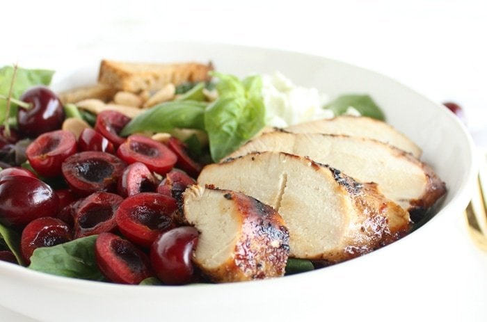 Cherry Almond Grilled Chicken Salad