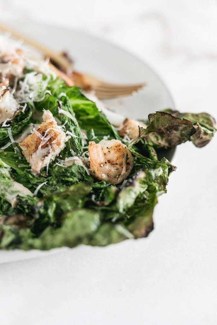 Grilled Caesar Salad With Shrimp