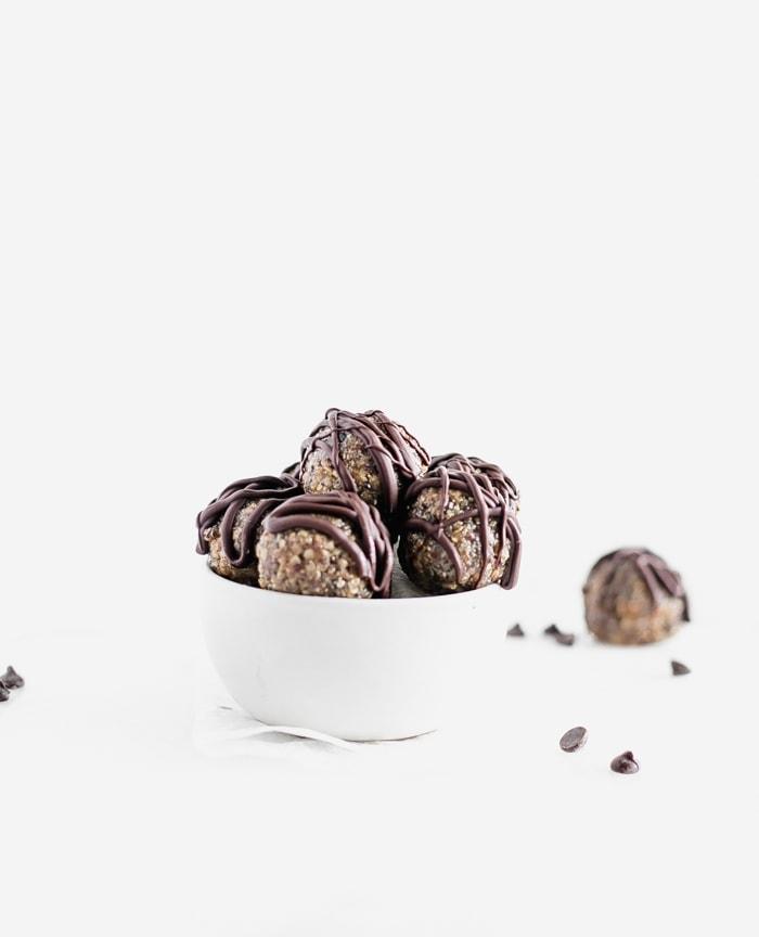 Quinoa Peanut Butter Cup Protein Balls
