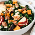 warm fall harvest kale salad