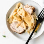 Pork Loin with Braised Apples, Onions and Fennel