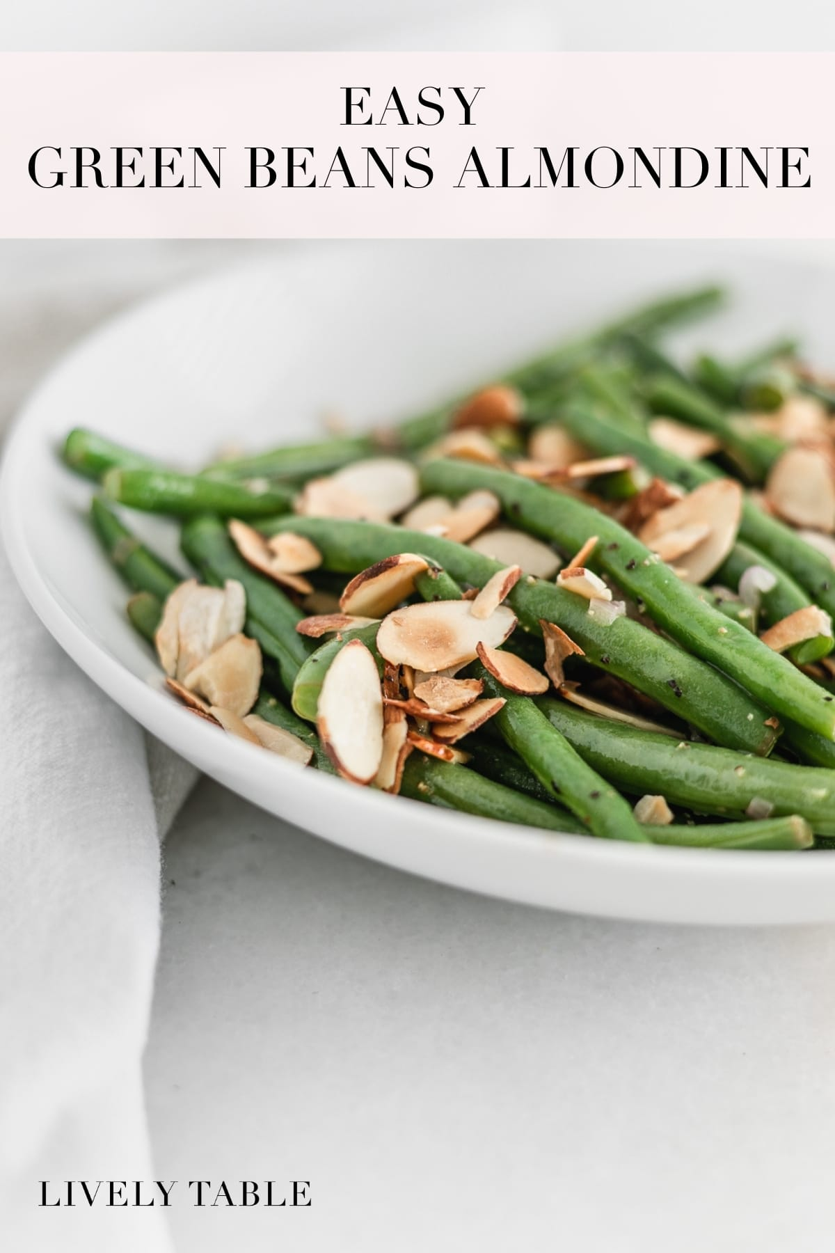 Flavorful Green Beans Almondine is a healthy and delicious side dish for Thanksgiving or for any meal of the year! (gluten-free, vegan option)