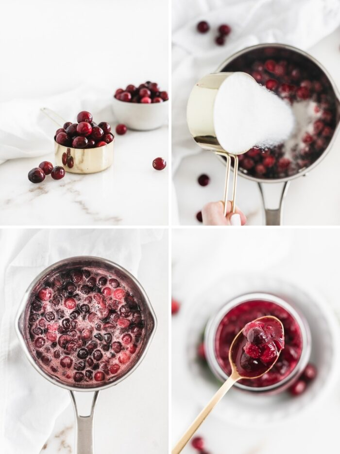 How to make lower sugar cranberry sauce.