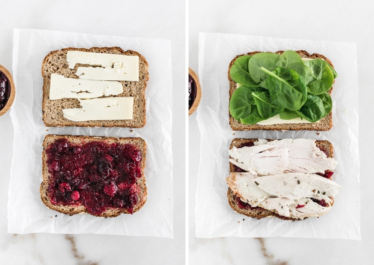 This simple and delicious Turkey, Cranberry and Brie Sandwich is a great way to use up those Thanksgiving leftovers!