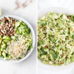 Healthy Shaved Brussel Sprout Salad with Citrus Shallot Vinaigrette