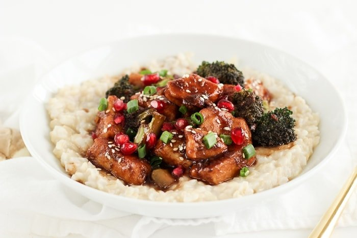 Sticky Pomegranate Ginger Chicken