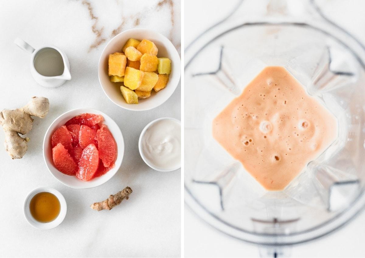 Immune Boosting Grapefruit Mango Smoothie
