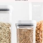 pinterest image for how to stock a healthy pantry