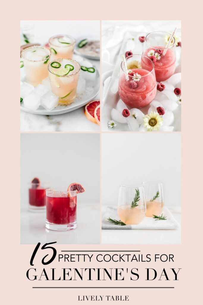 Celebrate your favorite girls with one of these pretty and delicious cocktail recipes for Galentine's Day!