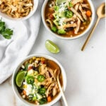 Crock Pot Vegetable Loaded Tortilla-less Chicken Tortilla Soup