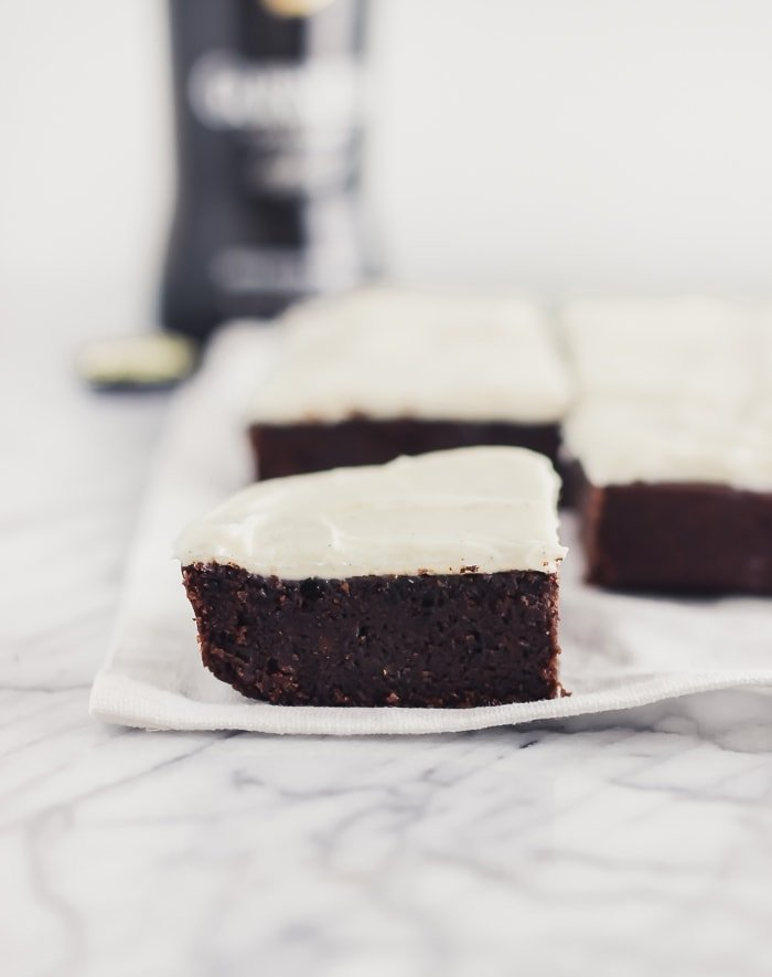 fudgy guinness brownies
