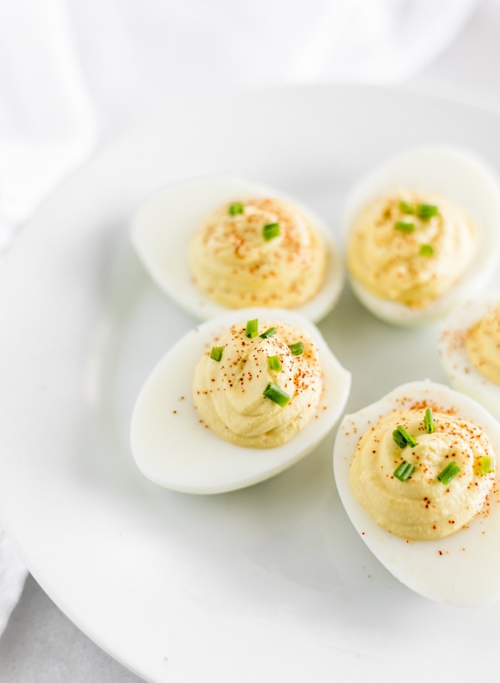 Lightened Up Deviled Eggs