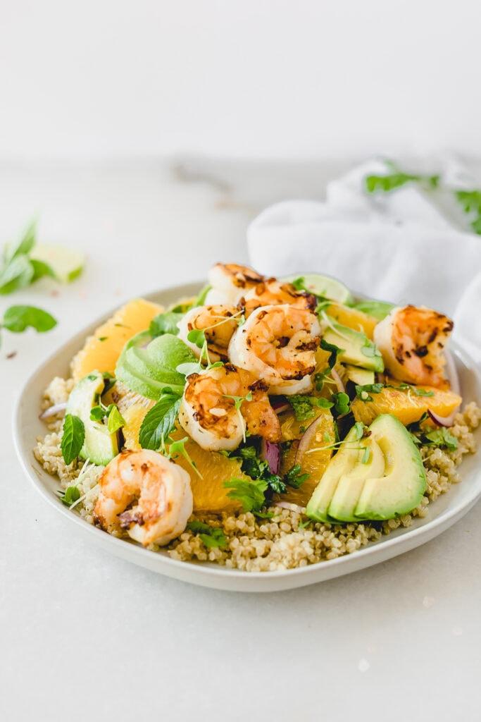 shrimp orange and avocado quinoa salad-3