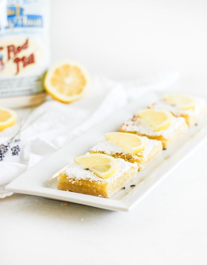 gluten free lavender lemon bars
