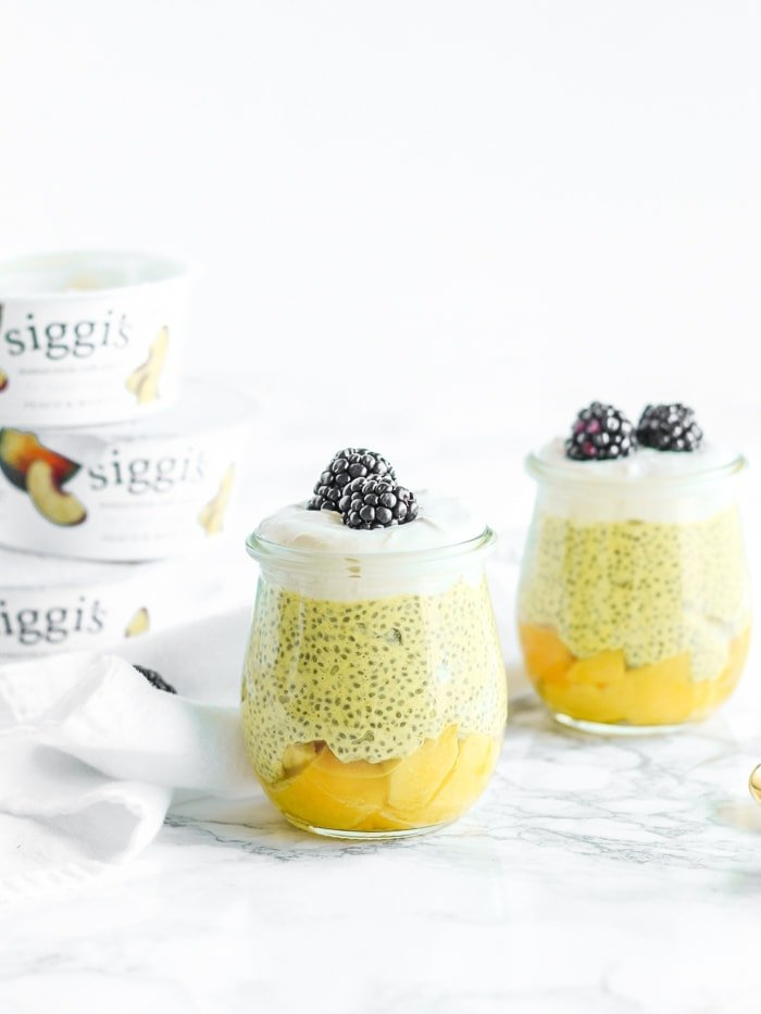no sugar added mango turmeric chia pudding