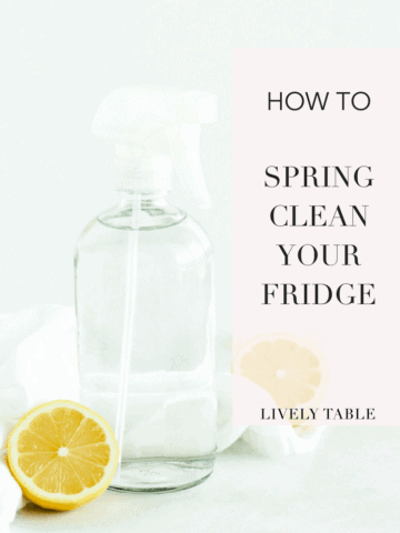 Feel refreshed and organized in the kitchen this spring with these tips on how to spring clean your refrigerator! #springcleaning #kitchenhacks #tips #healthyliving