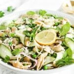 spring pea and zucchini pasta salad