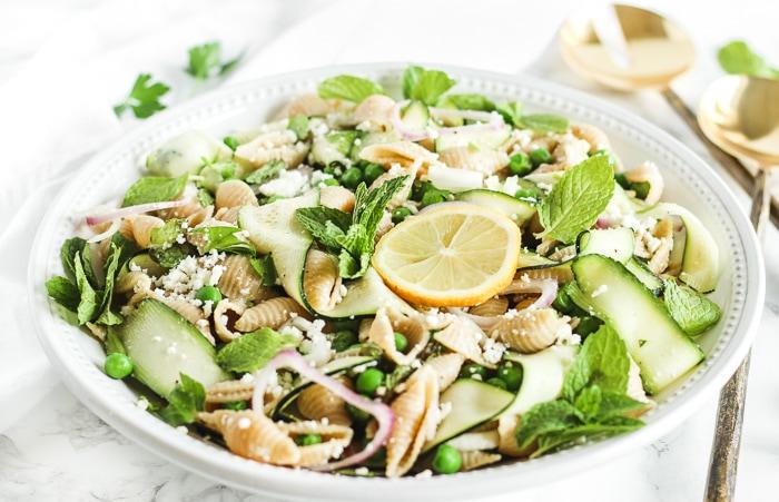 Spring Pea and Zucchini Pasta Salad