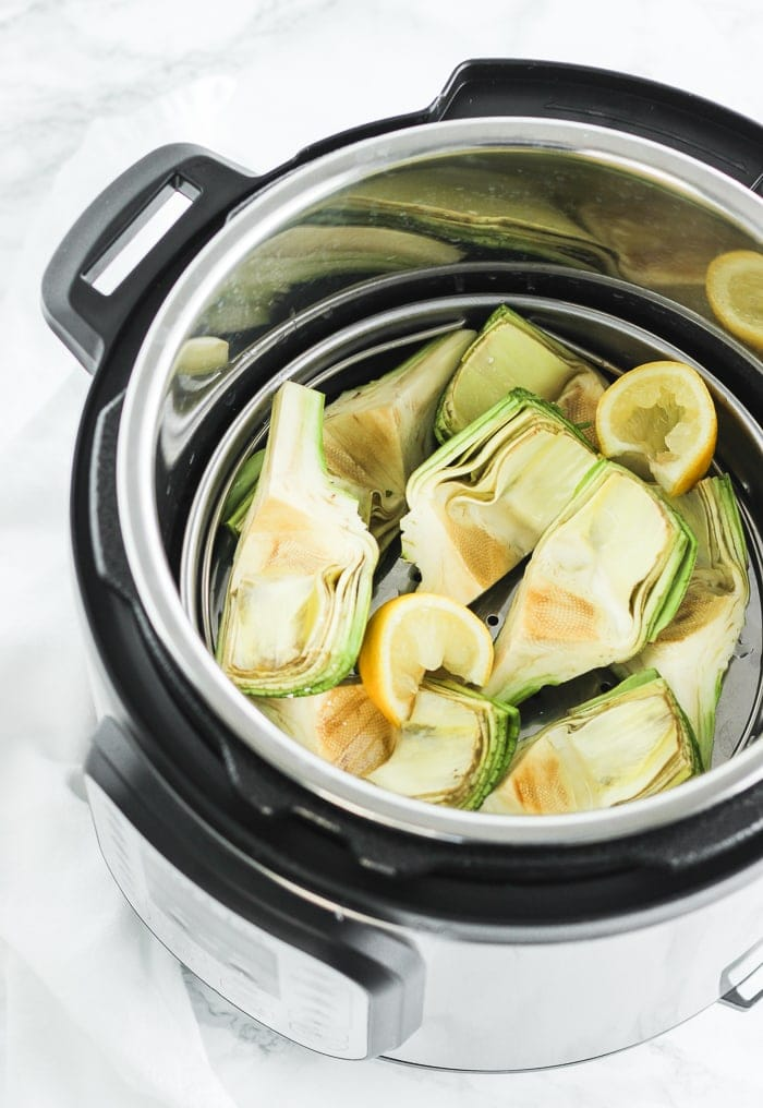 artichokes inside instant pot
