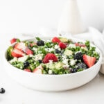 Berry Avocado Kale Salad