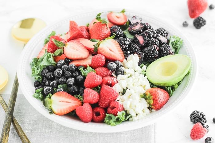 Berry Avocado Kale Salad