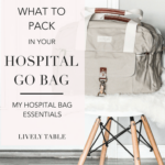 A sneak peek at what's in my hospital bag for the birth of our first baby girl, and suggestions for what to pack in your hospital go bag when it's time to start packing for baby's arrival. #gobag #hospitalbag #whattopack #baby #momtobe #hospitalessentials