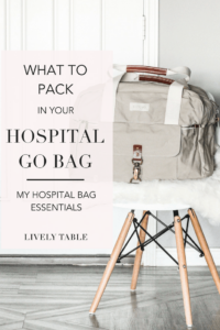 pinterest image for what to pack in a go bag