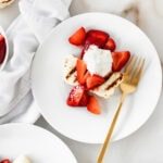 Strawberries and Cream Grilled Angel Food Cake