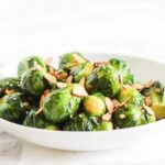 sesame almond brussels sprouts