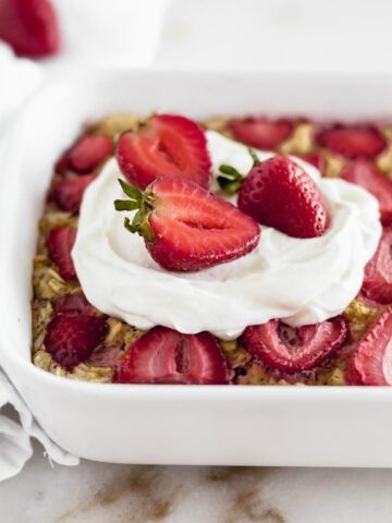 Strawberry baked oatmeal.