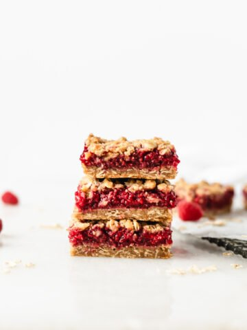 Raspberry Oat Crumble Bars
