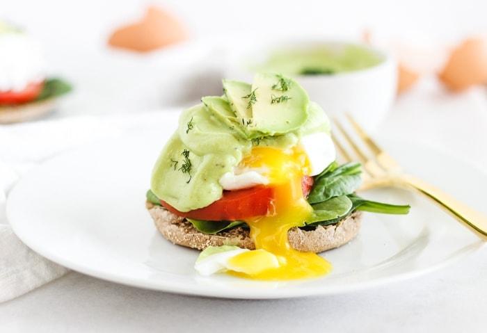 California Eggs Benedict With Avocado Hollandaise