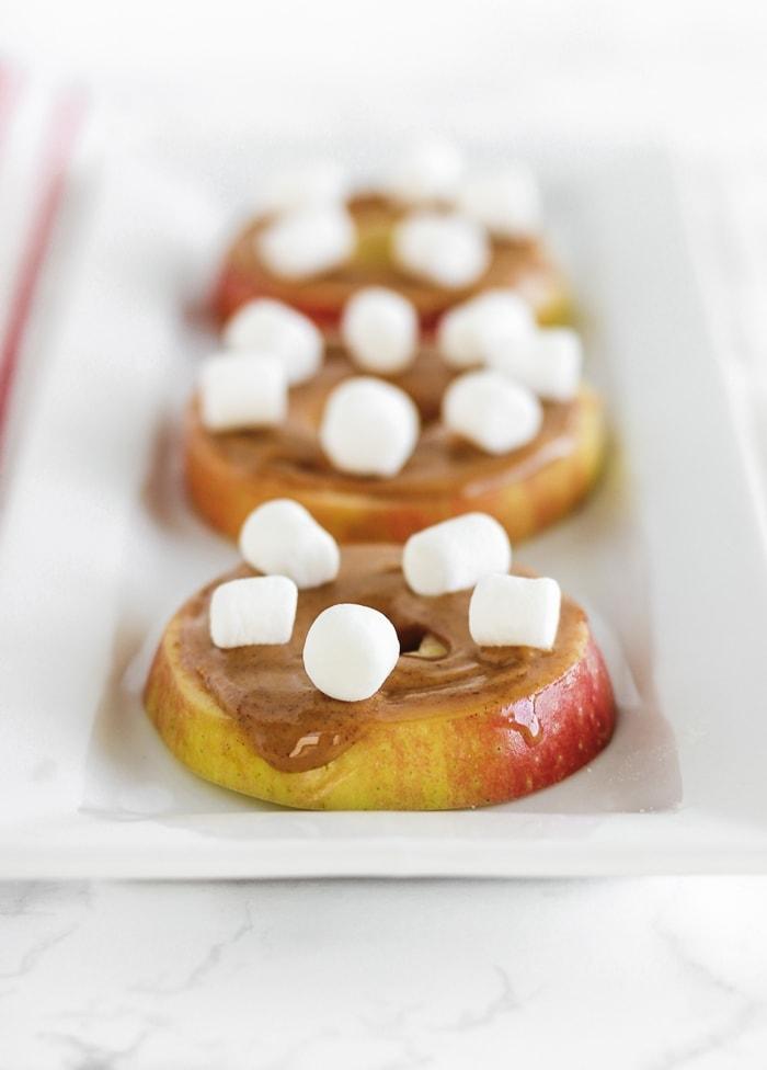 apple peanut butter life preservers