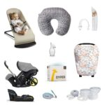a roundup image of newborn essentials moms of 2 under 2.
