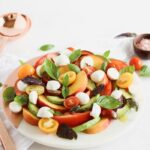 Peach Avocado Caprese Salad