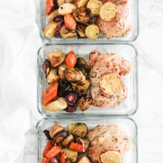 sheet pan lemon chicken meal prep