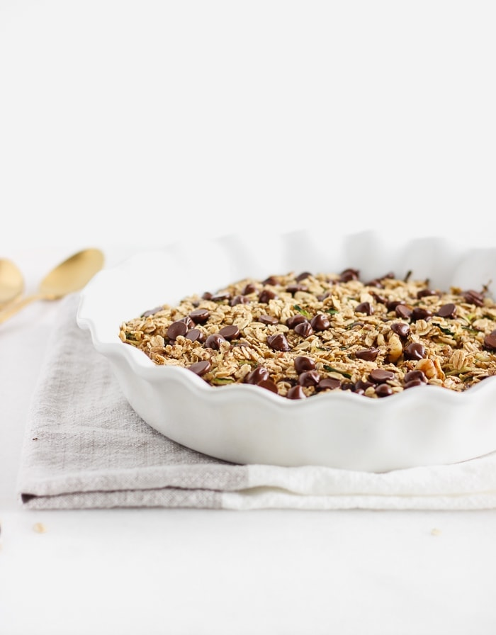 chocolate chip zucchini bread baked oatmeal