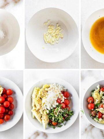 marinated tomato and artichoke salad