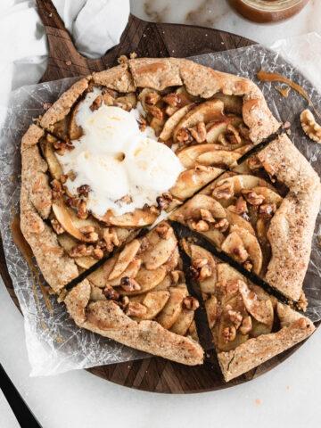 apple walnut galette