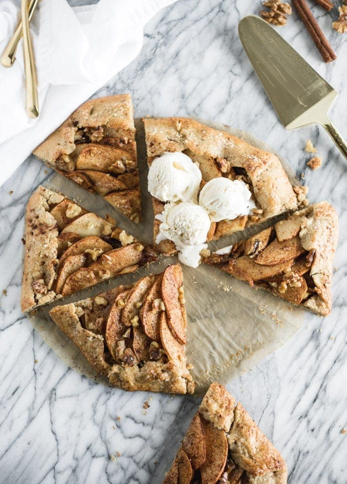 apple walnut galette