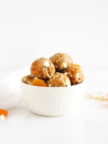 apricot white chocolate snack balls